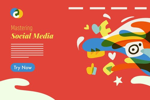 Social Media colorful graphic illustration - 01