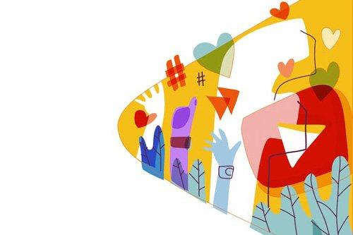 Social Media colorful graphic illustration - 03