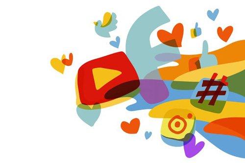 Social Media colorful graphic illustration - 05