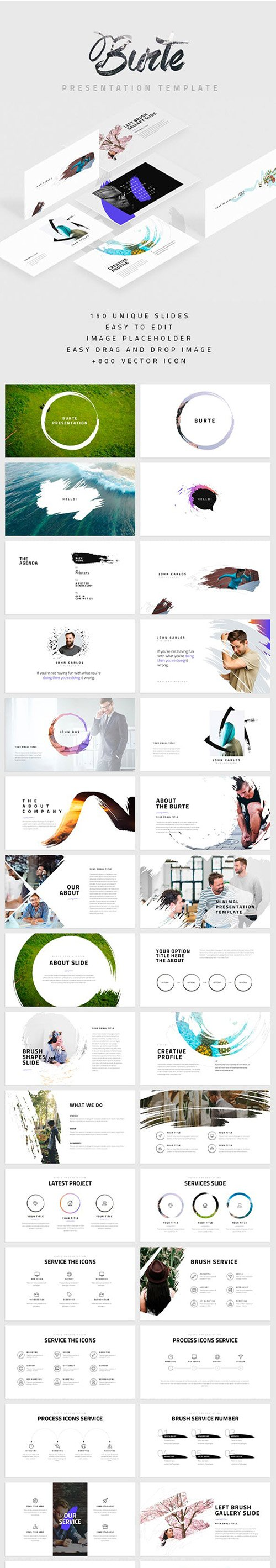 Burte Powerpoint and Keynote Template