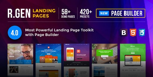ThemeForest - RGen v4.5 - Landing Page with Page Builder - 13244840