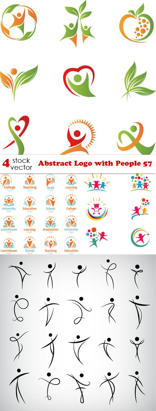 Vectors - Abstract Logo with People 57