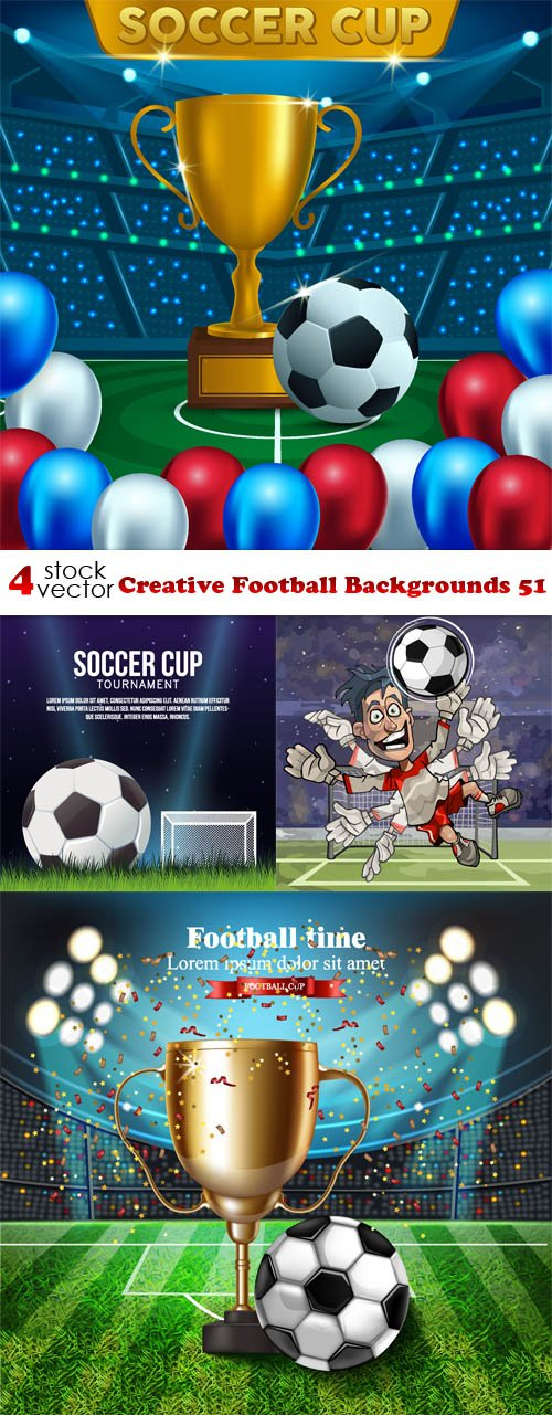 Vectors - Creative Football Backgrounds 51