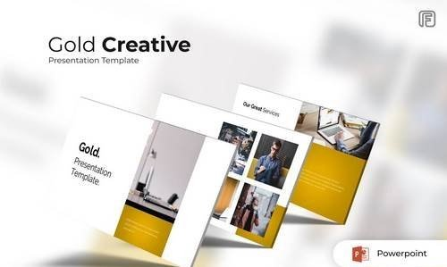 Gold - Creative Powerpoint, Keynote, Google Sliders Templates