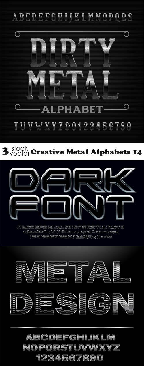 Vectors - Creative Metal Alphabets 14