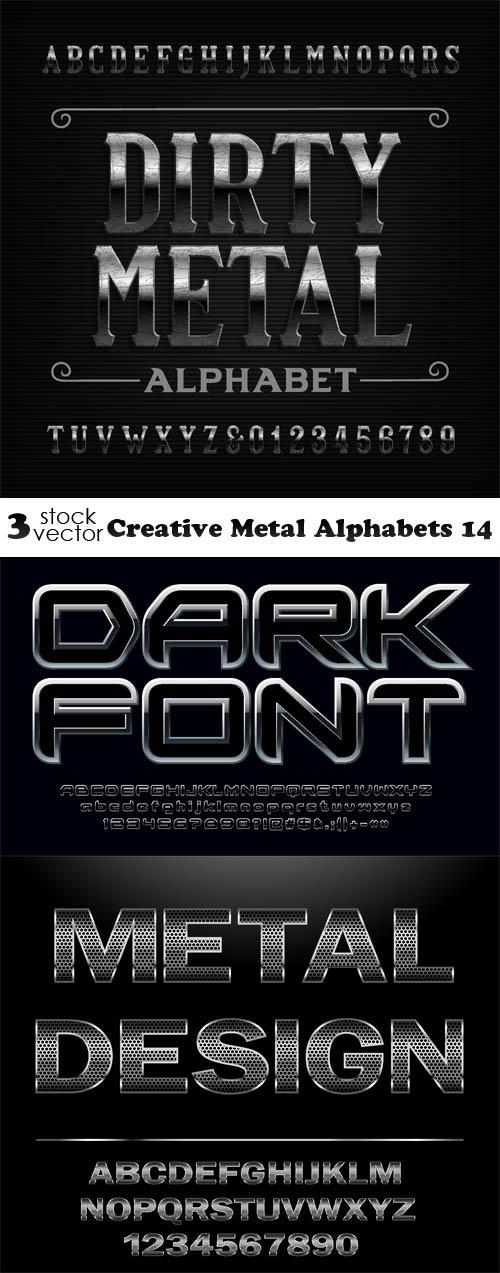 Vectors - Creative Metal Alphabets 14