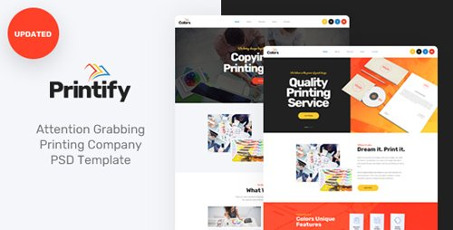 ThemeForest - Printify - Attention Grabbing Printing Company PSD Template (Update: 4 January 19) - 21822761