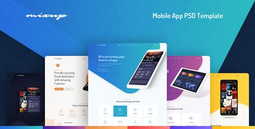 ThemeForest - Mixup - App Landing Page PSD Template (Update: 4 January 19) - 22060887