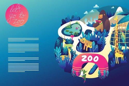Zoo graphic web template design