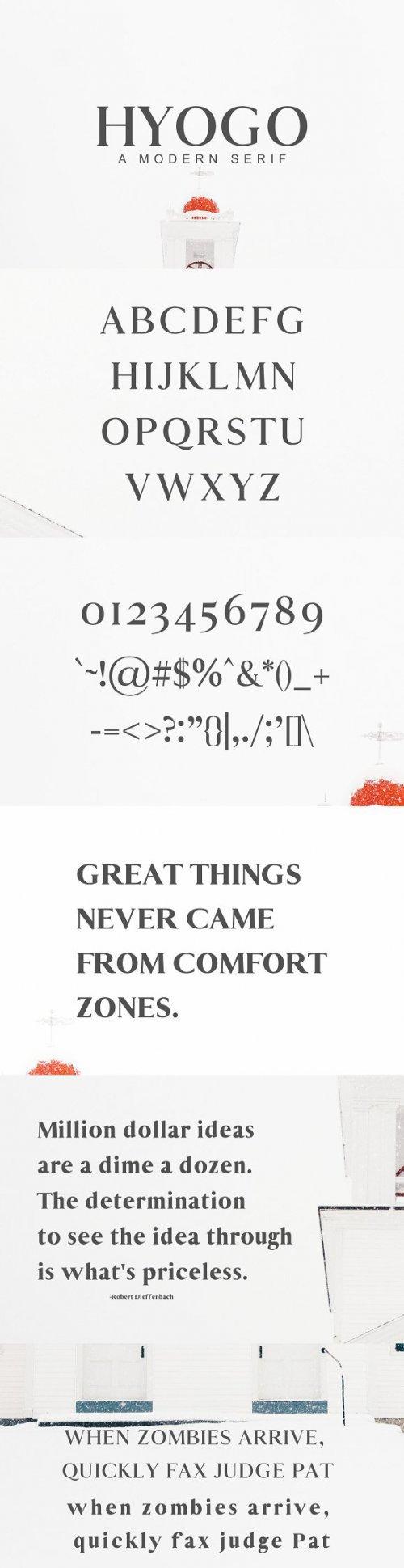 Hyogo A Modern Serif Font Family 3364019