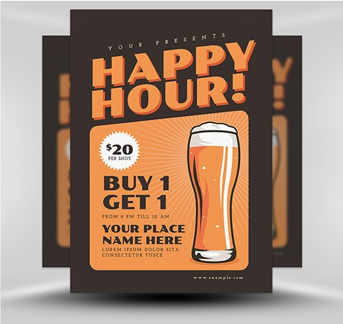 Happy Hour Beer 2 PSD