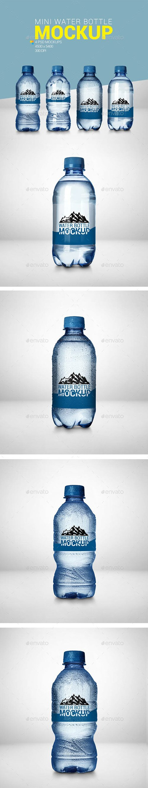 GR - 4 Mini Water Bottle Mockup 23080601