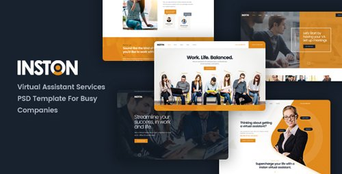 ThemeForest - Inston - Virtual Assistant Services PSD Template (Update: 4 January 19) - 21950428