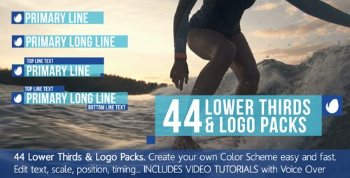 VideoHive - 44 Lower Thirds Titles & Logo Packs 10654699