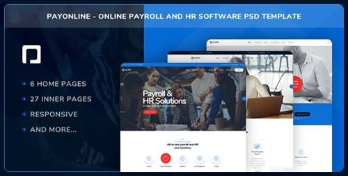 ThemeForest - Payonline - Online Payroll and HR Software PSD Template (Update: 4 January 19) - 22139543