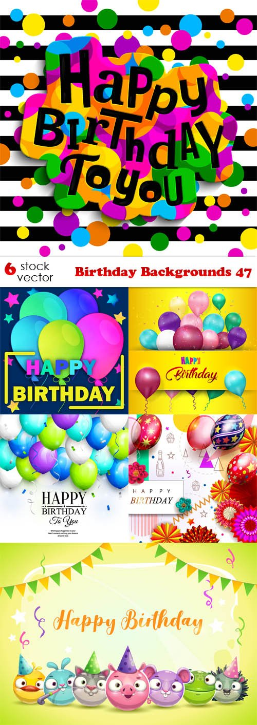Vectors - Birthday Backgrounds 47