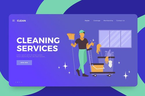 Cleaning Services Vector Illustration