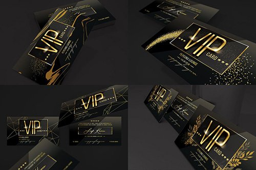 Multipurpose Gold Vip Card PSD