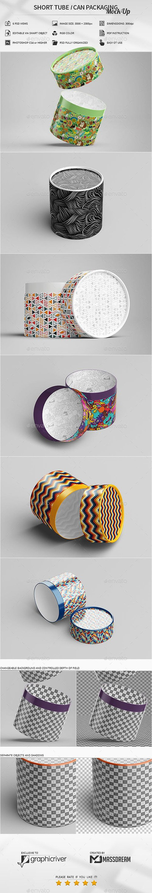 GR - Short Tube / Can Packaging Mock-Up 23079644