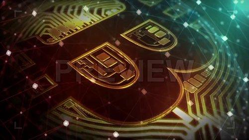 MA - Bitcoin Logo With Plexus Overlay 144878