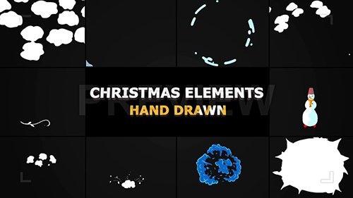 MA - Cartoon Christmas Elements And Transitions 143576