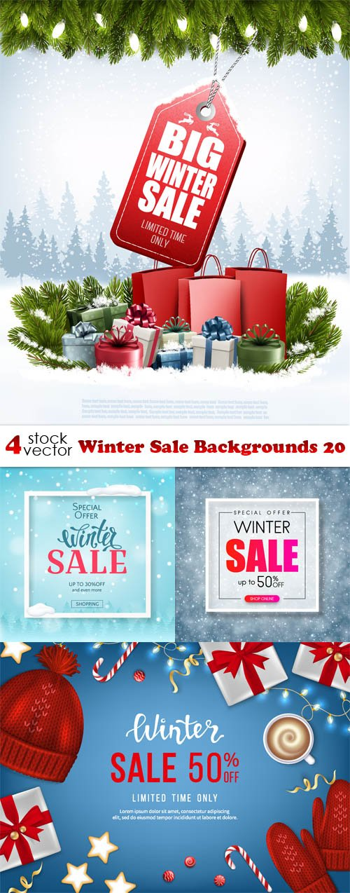 Vectors - Winter Sale Backgrounds 20