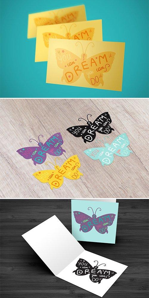 Motivation Lettering In Butterfly