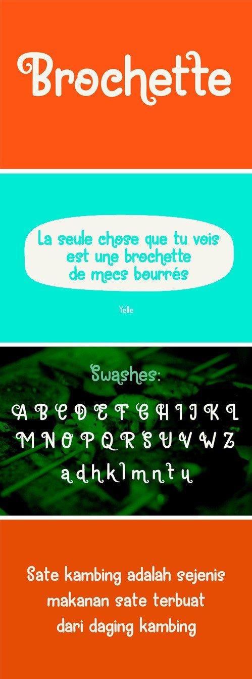 Brochette Font Family