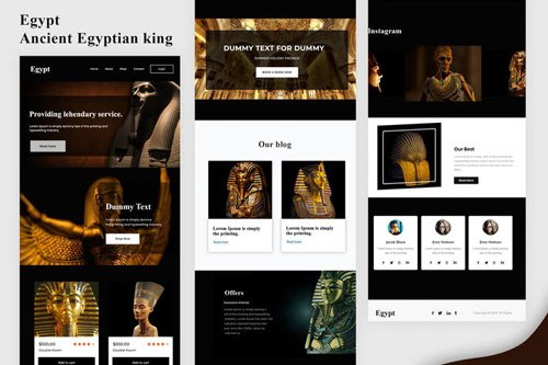 Egypt - Ancient Egyptian king Email Newsletter