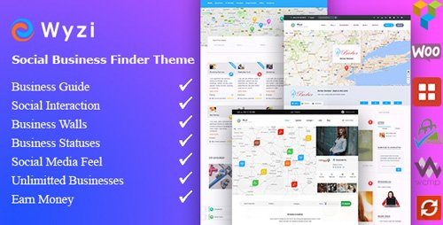 ThemeForest - Wyzi v2.2.1 - Business Finder and Service Provider Booking WordPress Social Look Directory Listing Theme - 18850856 - NULLED
