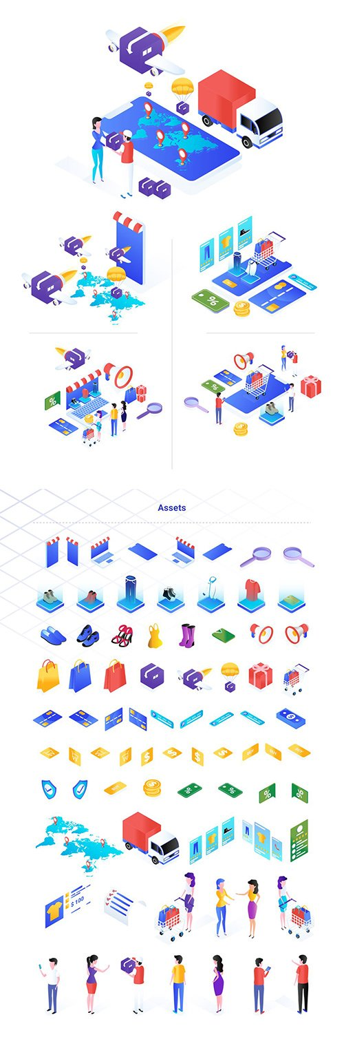 Ecommerce Isometric Illustration