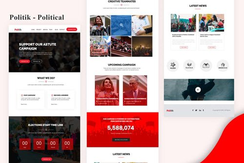 Politik - Political Email Newsletter