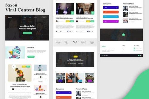 Saxon - Viral Content Blog Email Newsletter