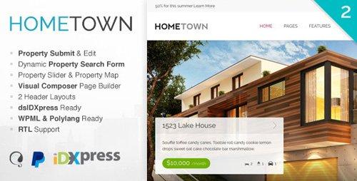 ThemeForest - Hometown v2.9.0 - Real Estate WordPress Theme - 9824422