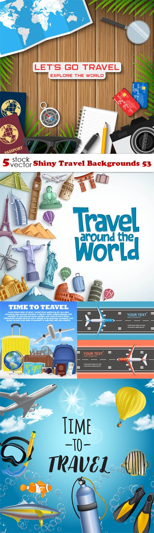 Vectors - Shiny Travel Backgrounds 53