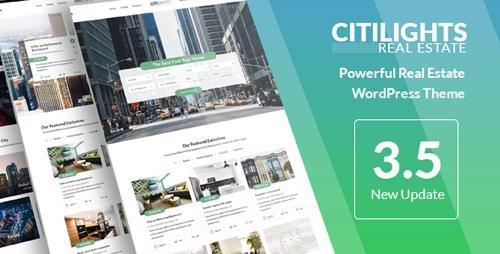 ThemeForest - CitiLights v3.5.5 - Real Estate WordPress Theme - 9249730