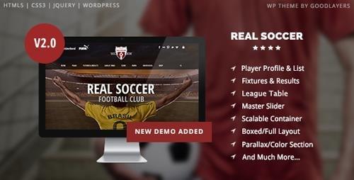 ThemeForest - Real Soccer v2.31 - Sport Clubs Responsive WP Theme - 8888574
