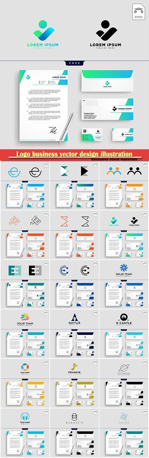 Logo business vector design illustration # 2