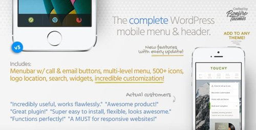 CodeCanyon - Touchy v3.2 - WordPress Mobile Menu Plugin - 6961708
