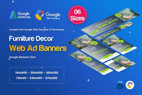 Furniture Decor Banners HTML5 D45 Ad - GWD & PSD - C9FRZ4