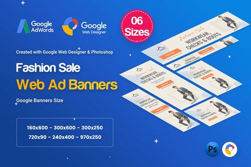 Fashion Sale Banners HTML5 D46 Ad - GWD & PSD - VHCAJK