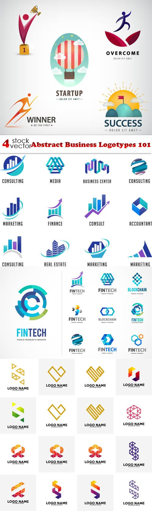 Vectors - Abstract Business Logotypes 101