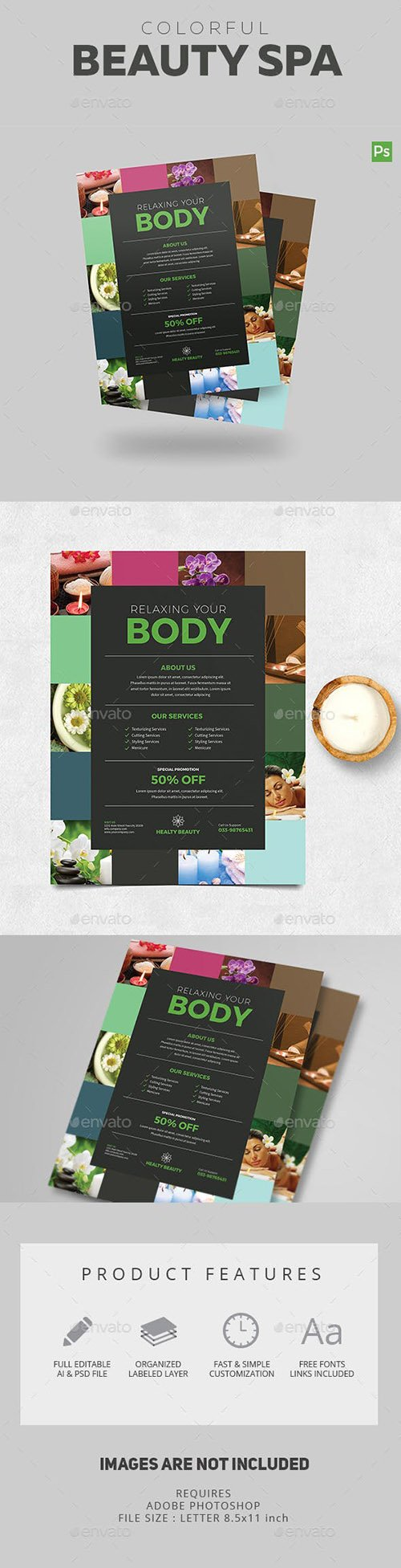 Colorful Spa Flyer 18715128