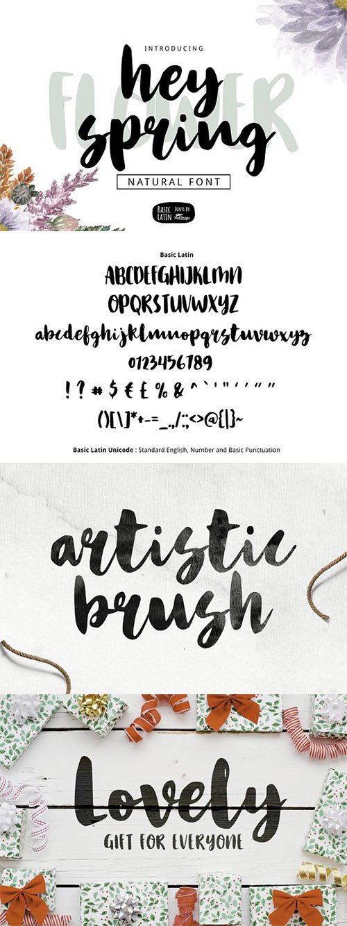 Hey Spring Brush Font 3370976