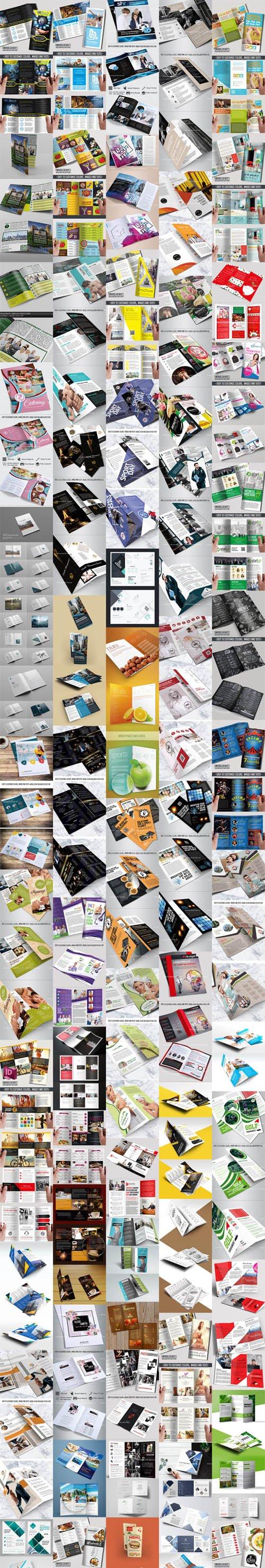 60+ Multipurpose Tri-Fold & Bi-Fold Brochures Templates