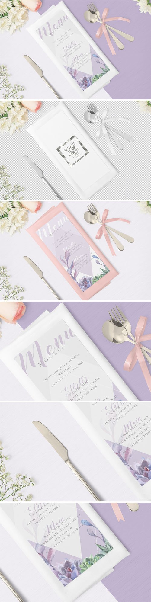 Gorgeous Restaurant Menu PSD Mockup