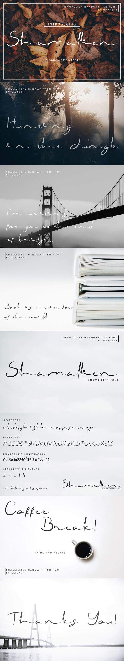 Shamallien Handwritten Script Font
