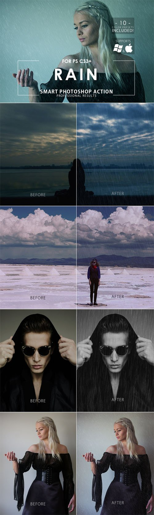 Rain Effect Photoshop Action