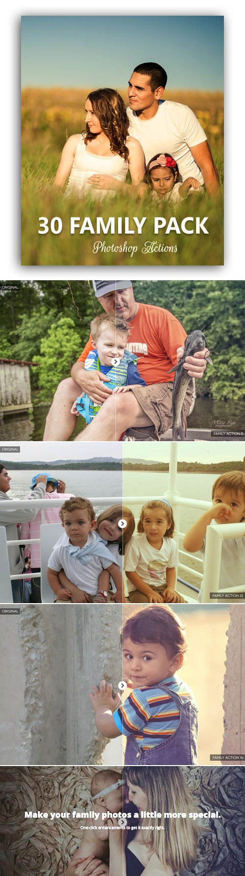 30 Photoshop Actions for Family Portraits
