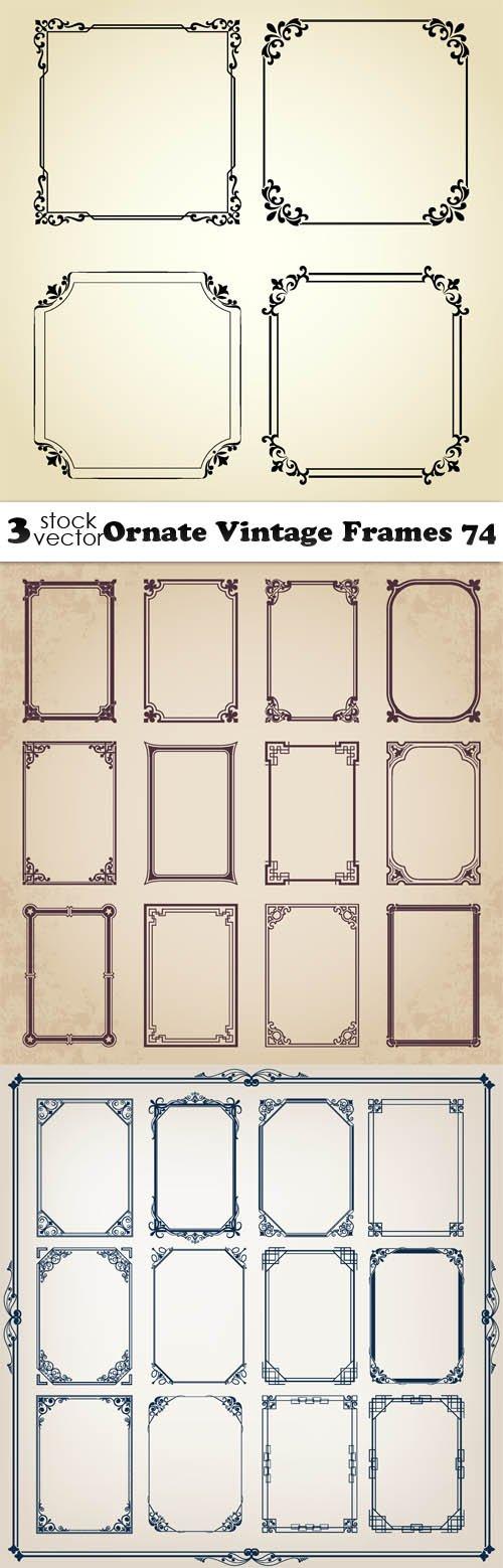 Vectors - Ornate Vintage Frames 74